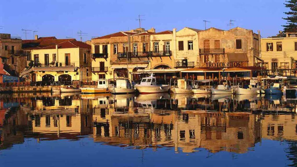 Rethymno old town, harbor, Crete